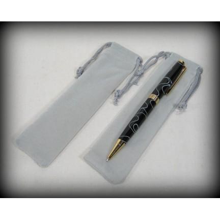 Velvet Pen Bags - Grey