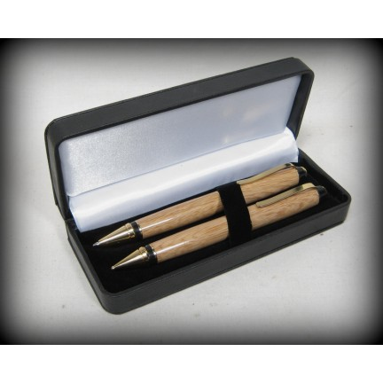 Leather Pen Box - Black