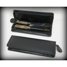 Leather Pen Wallet - Double