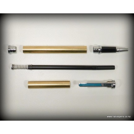 Traditional Rollerball Pen Kit - Chrome