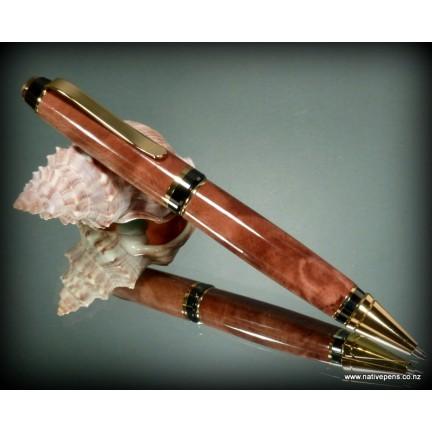 Cigar Pen Kit - Gold and Gun-Metal Grey