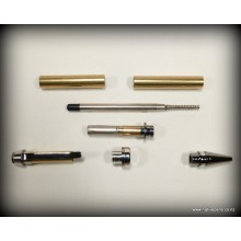 Cigar Pen Kit - Platinum & Black Titanium
