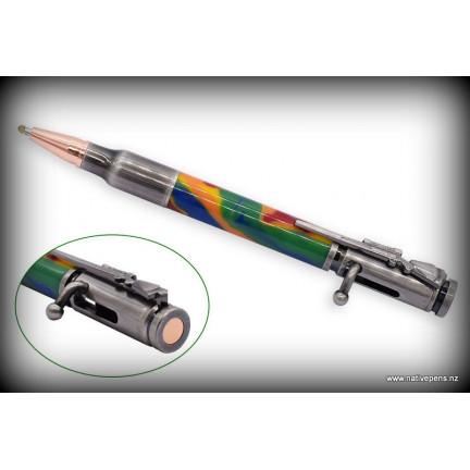 Bolt Action Bullet Pen Kit - Antique Pewter