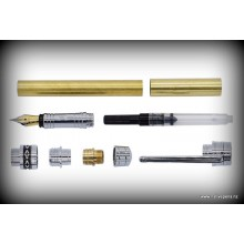 Sky Fountain Pen Kit - Chrome