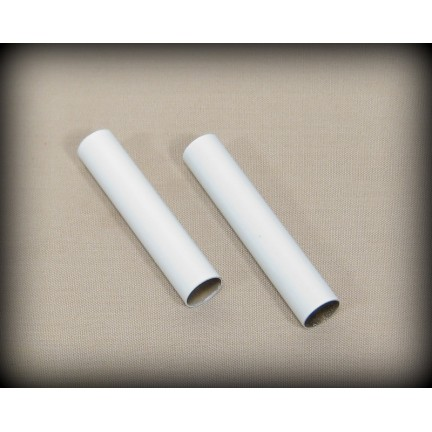 Cigar Brass Tube Set - White Enamel